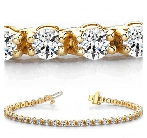 6 ct Round cut Diamond Tennis Bracelet, 0.17 ct each