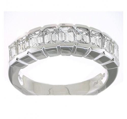 9 Emerald Cut Diamond Anniversary Ring,  0.25 ct Each,  2.25 tcw