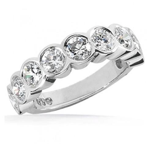 9 Round Cut Diamond Anniversary Ring,  0.25 ct Each,  2.25 tcw