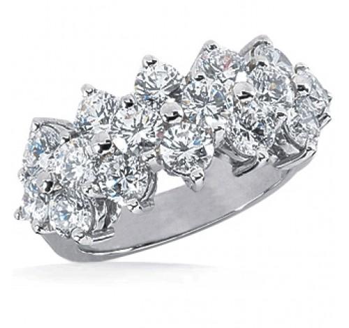 16 Round Cut Diamond Anniversary Ring, 0.20 ct Each, 3.20 tcw
