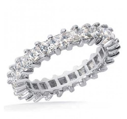 1.82 ct Princess cut Diamond Eternity Wedding Band, 0.07 ct each