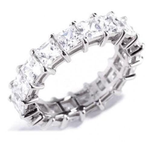 7.20 ct Princess cut Diamond Eternity Wedding Band, 0.40 ct each
