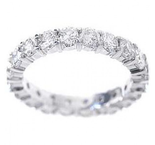 1.54 ct Round cut Diamond Eternity Wedding Band, 0.07 ct Each