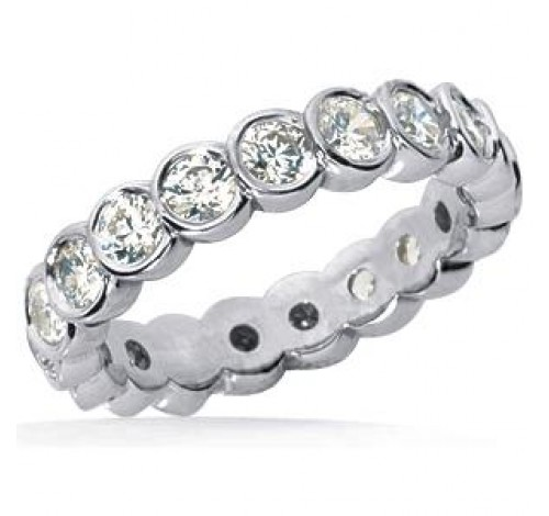 1.40 ct Round cut Diamond Eternity Wedding Band, 0.07 ct Each