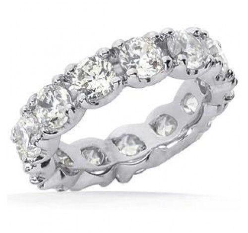 4.55 ct Round cut Diamond Eternity Wedding Band, 0.35 ct Each