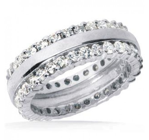 2.50 ct Round cut Diamond Eternity Wedding Band, 0.05 ct each