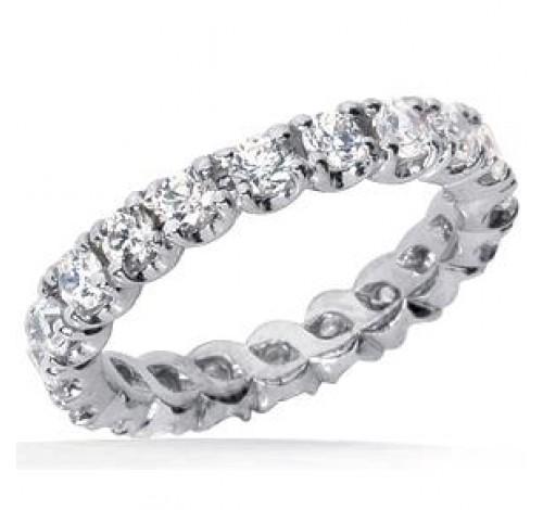 2.70 ct Round cut Diamond Eternity Wedding Band, 0.15 ct Each