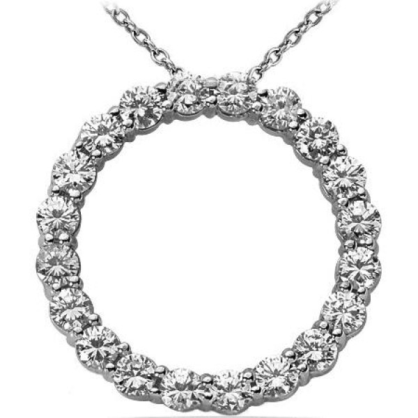 Circle of love round diamond pendant 020 ct each 400 tcw aloadofball Choice Image
