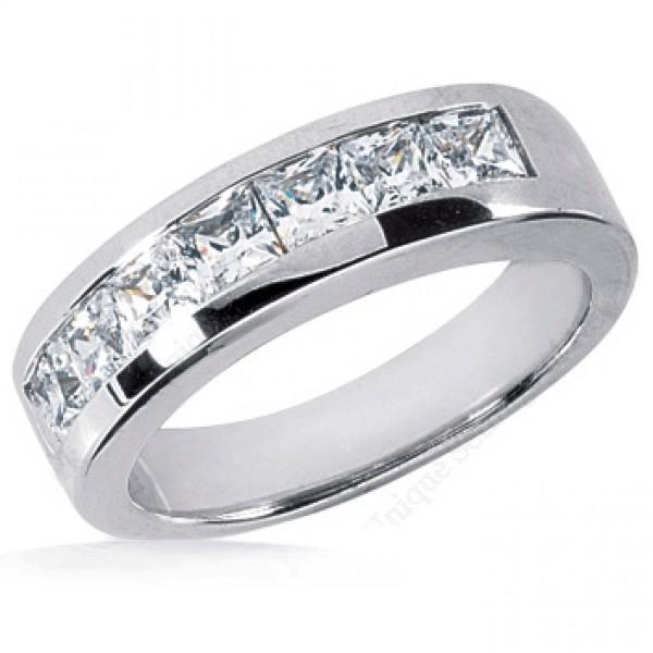 7 princess cut anniversary ring 0 27 ct each 1
