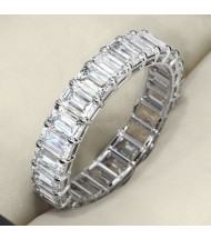 5.50 ct Emerald cut Diamond Eternity Wedding Band, 0.25 ct each