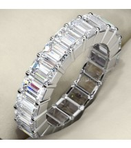 6.90 ct Emerald Cut Diamond Eternity Band, 0.30 ct Each, VS1