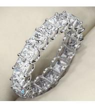 5.13 ct Princess cut Diamond Eternity U Band, 0.27 ct each
