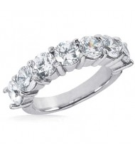 7 Round Cut Diamond Anniversary Ring, 0.15 ct Each, 1.05 tcw
