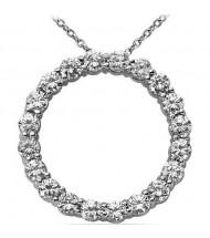 Circle of Love Round Diamond Pendant,  0.20 ct Each,  4.00 tcw