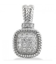 Round Cut Diamond Pendant,  0.15 ct Each,  2.17 tcw