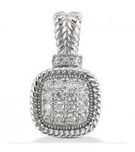 Round Cut Diamond Pendant,  0.15 ct Each,  2.17 tcw