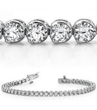 6 ct Round cut Diamond Tennis Bracelet, 3 Prong, 0.12 ct each