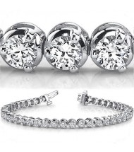 9 ct Round cut Diamond Tennis Bracelet, 3 Prong, 0.25 ct each