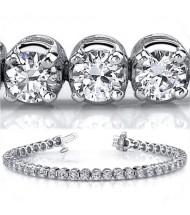 9.50 ct Round cut Diamond Tennis Bracelet, Prong, 0.25 ct each