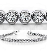 8.25 ct Round cut Diamond Tennis Bracelet, Prong, 0.25 ct each