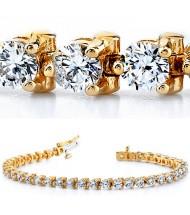 4 ct Round cut Diamond Tennis Bracelet, 0.09 ct each, 3 Prong