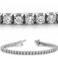 7.05 ct Round cut Diamond Tennis Bracelet, 0.15 ct each