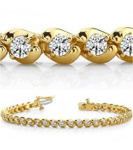 8 ct Round cut Diamond Tennis Bracelet, 0.28 ct each