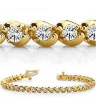 4 ct Round cut Diamond Tennis Bracelet, 0.10 ct each