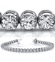 11.20 ct Round cut Diamond Tennis Bracelet, 0.35 ct each
