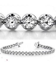 5.92 ct Round cut Diamond Tennis Bracelet, 0.16 ct each