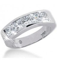 5 Princess Cut Diamond Anniversary Ring,  0.38 ct Each,  1.90 tcw