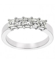 5 Princess Cut Diamond Anniversary Ring,  0.30 ct Each,  1.50 tcw