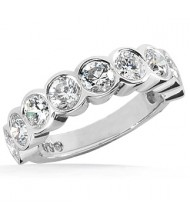 9 Round Cut Diamond Anniversary Ring,  0.25 ct Each,  2.25 tcw