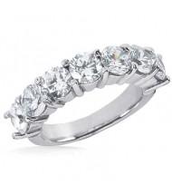7 Round Cut Diamond Anniversary Ring, 0.25 ct Each, 1.75 tcw