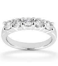 5 Round Cut Diamond Anniversary Ring, 0.45 ct Each, 2.25 tcw