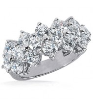16 Round Cut Diamond Anniversary Ring, 0.20 ct Each, 3.20 tcw