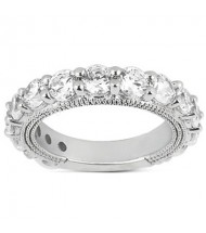 Graduated Round Diamond Anniversary Ring,  0.30ct center,  2.55tcw