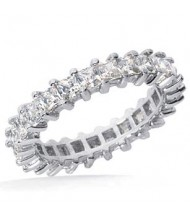1.82 ct Princess cut Diamond Eternity Wedding Band, 0.07 ct each