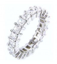 5.13 ct Princess cut Diamond Eternity Wedding Band, 0.27 ct each