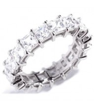 7.20 ct Princess cut Diamond Eternity Wedding Band, 0.40 ct each