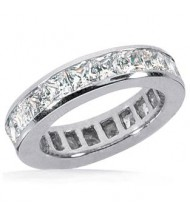 5.13 ct Princess cut Diamond Eternity Band Channel, 0.27 ct each