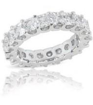 2.60 ct Princess cut Diamond Eternity U Band, 0.10 ct each