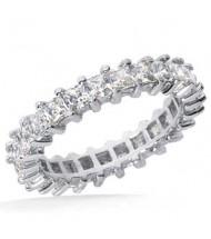 3.57 ct Princess cut Diamond Eternity Wedding Band, 0.15 ct each