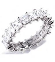 5.70 ct Princess cut Diamond Eternity Wedding Band, 0.30 ct each