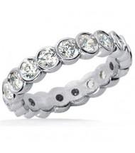 1.80 ct Round cut Diamond Eternity Wedding Band, 0.10 ct Each