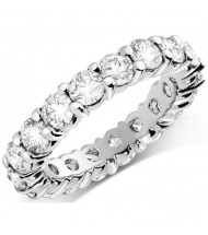 5.60 ct Round cut Diamond Eternity Wedding Band, 0.40 ct Each
