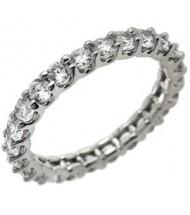 2.10 ct Round cut Diamond Eternity Wedding Band, U, 0.10 ct each