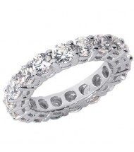 6.30 ct Round cut Diamond Eternity Wedding Band, 0.45 ct Each