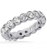 1.10 ct Round cut Diamond Eternity Wedding Band, 0.05 ct Each