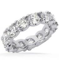 6.75 ct Round cut Diamond Eternity Wedding Band, 0.45 ct each